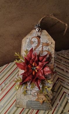 Simply Sweet Stamping blog: Poinsettia Christmas Tag