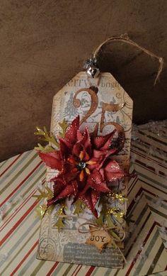 .: Poinsettia Christmas Tag