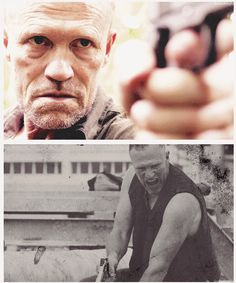 The Walking Dead  ... Merle Dixon  -- tonight I met him!! he came in Panera for a sandwich! so awesome. :3