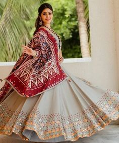 Navratri Chaniya Choli Special designer lehenga Choli With Printed Dupatta garba dress lehenga choli Full flair dandiya outfit chaniya choli Lehenga Choli Designs, Ghagra Choli, Choli Blouse Design, Wedding Chaniya Choli, Gujarati Chaniya Choli, Wedding Lehnga, Garba Dress, Navratri Dress, Lehnga Dress