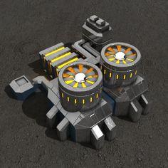 Powerplant sci-fi building Architecture  3D Models