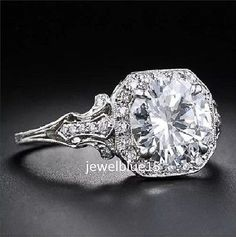 Unique-2ct-Nearly-White-Moissanite-Engagement-Solitaire-925-Sterling-Silver-Ring