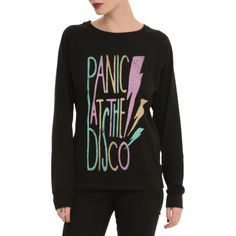 Panic! At The Disco Lightning Bolt Pullover Top   Hot Topic ($20) ❤ liked on Polyvore featuring tops, pullover tops, disco top and sweater pullover