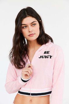 Juicy Couture For UO Be Juicy Zip-Up Hoodie Sweatshirt - Urban Outfitters