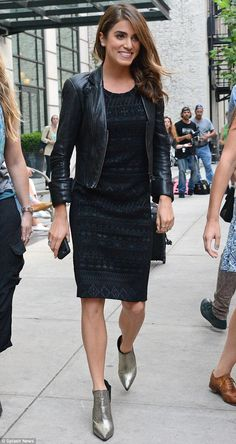 Nikki Reed looked radiant in a black leather jacket as she stepped out in NYC on Tuesday
