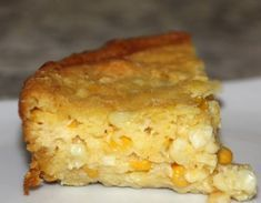 This baked corn casserole recipe from Inside the Kitchen's David Venable is so unbelievably easy to make and delicious to eat. Corn Recipes, Side Dish Recipes, Great Recipes, Favorite Recipes, Side Dishes, Recipe Ideas, Easy Recipes, Vegan Recipes, Baked Corn Casserole