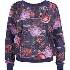 Blue floral tapestry print sweatshirt £28.00