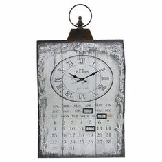 """Showcasing a scrolling border and Roman numeral dial, this chic iron wall clock is the perfect addition to your kitchen or foyer.   Product:  Wall clockConstruction Material: IronColor: Brown and beige Accommodates: Batteries - not includedDimensions: 28"""" H x 15.8"""" W x 3"""" D"""