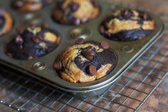 Dark Chocolate Banana Swirl Muffins