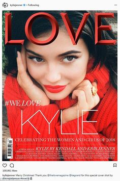 NEW: Kylie Jenner is reportedly pregnant but she has yet to address those rumours. Instead on Christmas Day, the reality TV siren shared her new cover of Love magazine