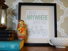 I'd Go Anywhere Bike Print by RevampMarketplace on Etsy, $15.00