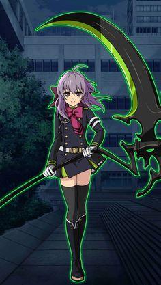 Owari no Seraph Bloody Blades - Shinoa Hiragi Anime Guys, Manga Anime, Anime Art, Anime Titles, Anime Characters, Shinoa Hiiragi, Otaku, Mikaela Hyakuya, Anime Weapons