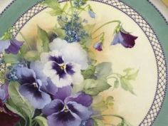 Pansies by Paula Collins. I love watching this video Paula has everyone one topped in the art of porcelain painting in my opinion!!!! ml