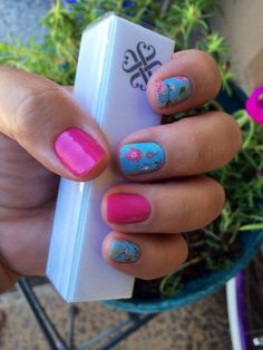 Azure Rose and Bubble Gum designs from Jamberry Nail Wraps. Shop online for 300+ designs at http://www.amybaldwin.jamberrynails.com Amy Baldwin, Independent Consultant