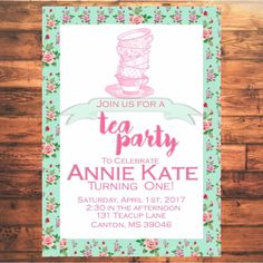 Super Sweet Tea Party Invitations for your Shabby Chic Birthday Party!  I can also do other matching items that you can print at home for an event. --Diaper Raffle Tickets --Water Bottle Wraps --Bring a book in place of a card add ins --Shower Games --Custom matching printables   \Digital File Includes/ A high resolution PDF file that will be sent via Email. This invitation is only one sided, so only one file will be provided   \ Directions / 1. Add this listing to your cart for pur...