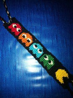Added by Murmeli Friendship bracelet pattern 5844 #friendship #bracelet #wristband #craft #handmade #pac #man