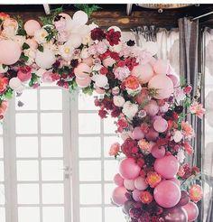piccolo and poppi balloon garland