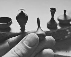 Miniature Hand Thrown Pottery by Jon Almeda