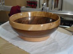 Walnut and Myrtle turned bowl.
