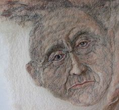 felted portrait.  this is quite amazing