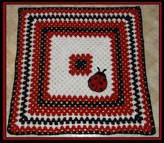 Crochet Ladybug Blanket Crochet Afghans, Crochet Blankets, Baby Blanket Crochet, Baby Blankets, Crochet Baby, Crochet Ideas, Crochet Patterns, Crochet Ladybug, Men Scarf