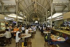 Lau Pa Sat Food Market in Singapore