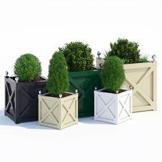 cross planters 3d model max obj fbx mat 1