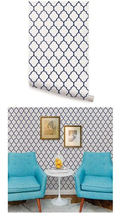 Moroccan Small Pattern Peel and Stick Wallpaper  - Wall Sticker Outlet