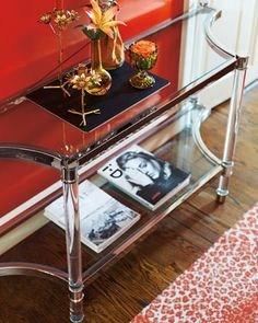 Salon+Stainless+Steel+Console+Table+by+Bernhardt+at+Horchow.