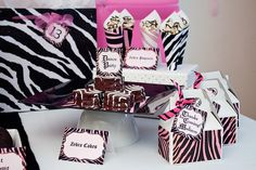 Zebra theme party...