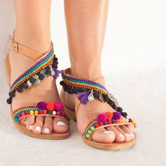15% OFF RiRiPoM Boho Chic Sandals Leather SandalsGreek (€118) found on Polyvore