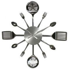 Kitchen 'Utensils' Clock.