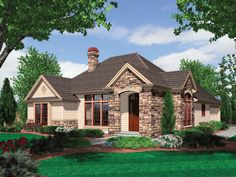 <ul><li>Pure traditional style mingles with European elements to produce a home that is elegant without being overbearing.  </li><li>A high, hipped roof lends a unique style statement