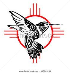 Tribal Hummingbird Tattoos Symbol Of Good Luck Bird Tattoo Designs Tattoo New Mexico Tattoo, Native American Symbols, Native American Design, Tribal Tattoos Native American, Tribal Wings, Tribal Art, Haida Tattoo, Flor Tattoo, Native Tattoos