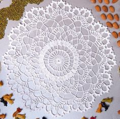 Projects For The Home 20 Free Crochet Round Doily Patterns Free Crochet Doily Patterns, Crochet Symbols, Crochet Motif, Free Pattern, Crochet Edgings, Crochet Table Topper, Crochet Tablecloth Pattern, Crochet Round, Crochet Home