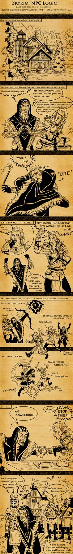 Skyrim: NPC Logic by SlayerSyrena: this actually makes sense since mjoll hates thieves and the thieves guild