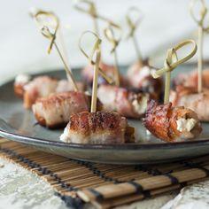 Lecker gefüllt mit cremigem Ziegenfrischkäse sorgen diese kleinen Häppchen für freudige Überraschung beim Draufbeißen.