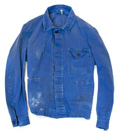 Wonderfully worn-in French Blue jacket