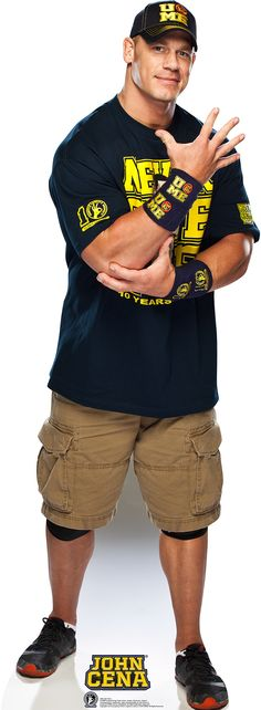 WWE John Cena Navy and Gold Shirt Cardboard Stand-Up