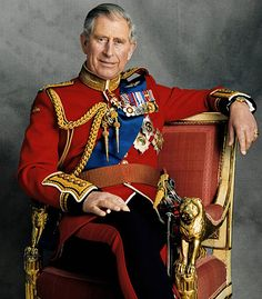 Charles chose to wear the ceremonial uniform of the Welsh Guards, minus the headdress, to celebrate his 60th birthday 2/27/12. The photograph was taken by Hugo Burnand.