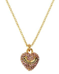 I lost this necklace ): Juicy Couture Pave Heart Wish Necklace <3