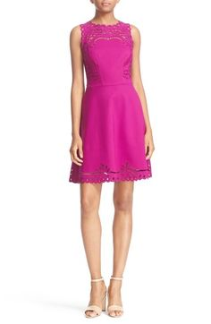 Ted Baker London 'Verony' Eyelet Embroidered Skater Dress available at #Nordstrom