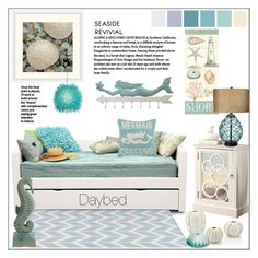 """Seaside Revival Bedroom"" by pat912 ❤ liked on Polyvore featuring interior, interiors, interior design, home, home decor, interior decorating, Dot & Bo, Universal Lighting and Decor, Monarch and Varaluz"
