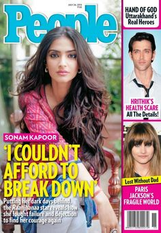 Sonam Kapoor on the cover of People Magazine