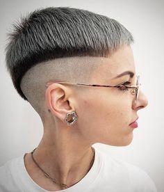 Short Shaved Hairstyles, Undercut Hairstyles Women, Pixie Hairstyles, Short Hairstyles For Women, Cool Hairstyles, Undercut Pixie, Pixie Haircuts, Short Punk Hair, Funky Short Hair