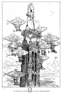 Le #Paris d'Albert Robida 1848-1926.