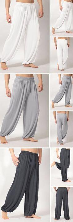 Men's Loose Yoga Pants / Sleepwear / Morning Practice Sports Pants