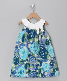 Take a look at this Light Blue Floral Mirabella Dress - Toddler & Girls by Ciao Marco on #zulily today!