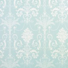 Laura Ashley   ...  Josette Duck Egg Blue French-Inspired Damask Wallpaper .. love
