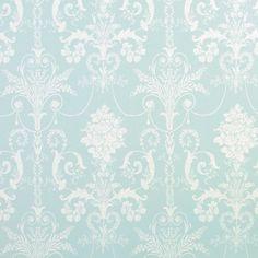 Laura Ashley   ...  Josette Duck Egg Blue French-Inspired Damask Wallpaper .. love